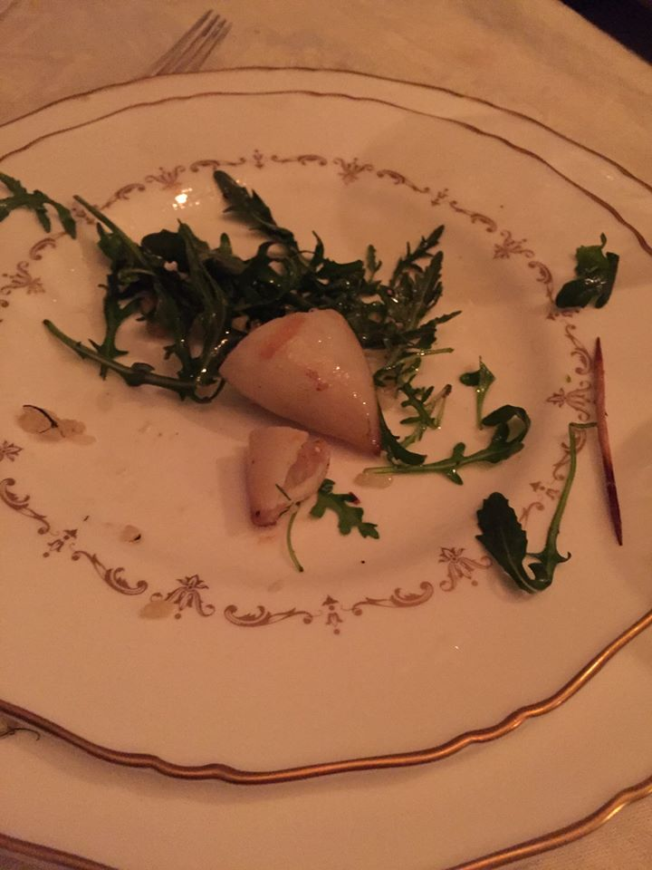 Squid Stuffed with Wild Arugula